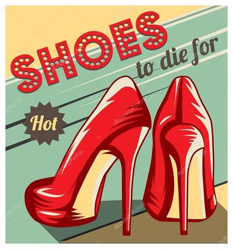 imagenes vectoriales de zapatos zapatos retro plantilla de publicidad archivo im 225 genes