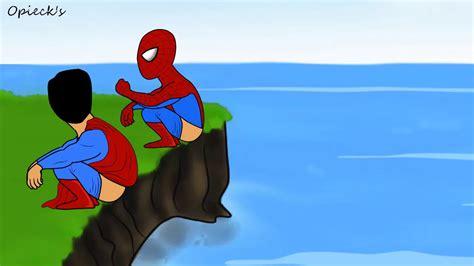 film animasi spiderman kartun lucu superhero buang air how superheroes