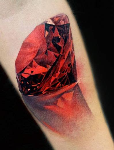 realistic diamond tattoo realistic 3d design by matt