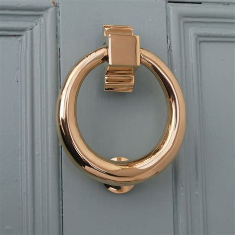 Front Door Knockers Brass Brass Hoop Door Knocker