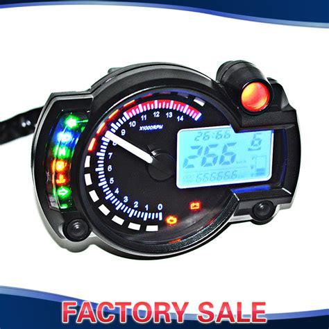 blue lcd digital backlight motorcycle speedometer