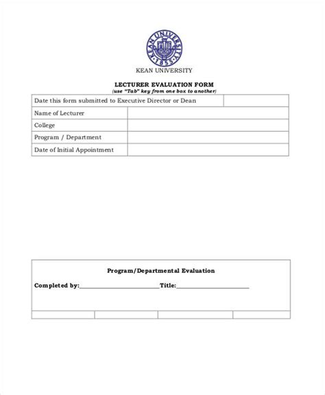 lecture evaluation form 10 feedback forms for lectures