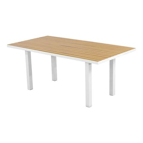 dining table 72 x 36 polywood satin white plastique 36 in x 72 in patio