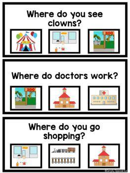 wh questions printable flash cards 9012 best materiales para terapia del habla y lenguaje