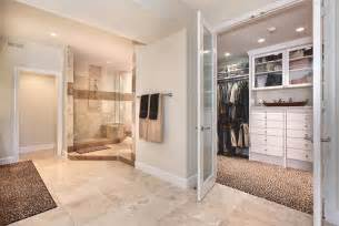 master bathroom walk in closet bathroom ideas