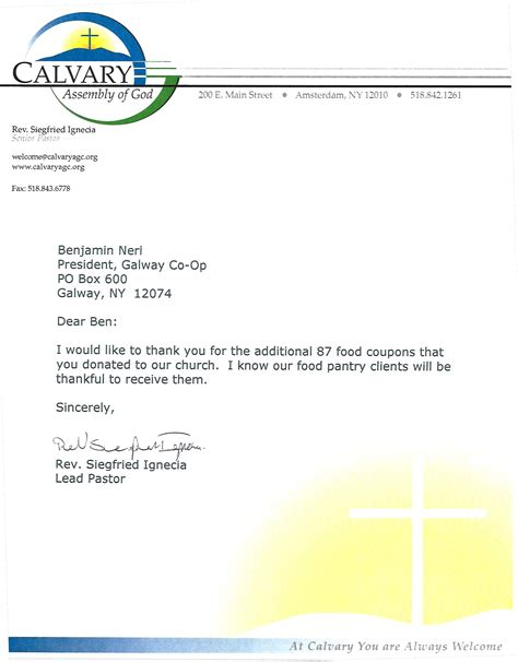 Fundraising Letter For Hunger Galway Co Op Donations Discount Propane Discount Fuel
