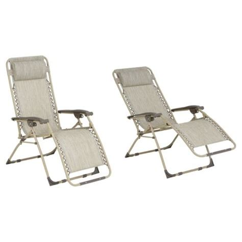 reclining garden chairs tesco buy gravity recliner sun lounger cream from our all