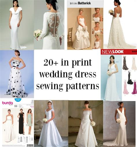 Wedding Dress Patterns by Links To Twenty In Print Bridal Gown Sewing Patterns