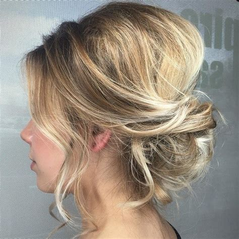 partial updos for medium length hair 54 easy updo hairstyles for medium length hair in 2017