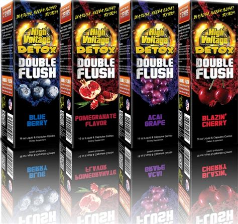 High Voltage Detox Flush Reviews by High Voltage Flush 16oz Liquid Capsules Combo