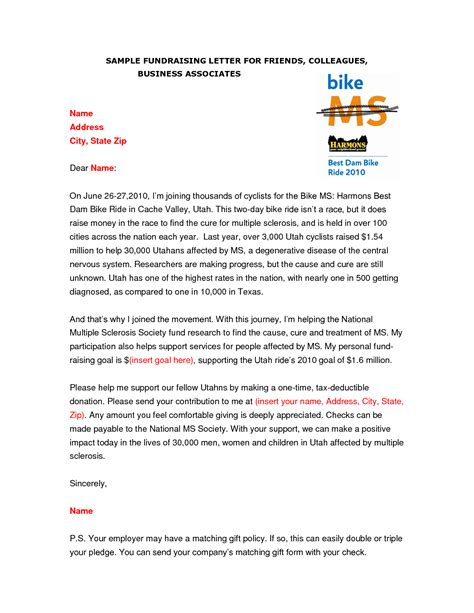 Fundraising Parent Letter Sle School Fundraising Letter To Parents Fundraising