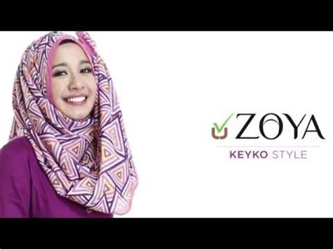 tutorial hijab zoya 2014 zoya hijab tutorial keyko new style by laudya chintya