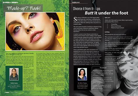magazine layout on photoshop magazine layout