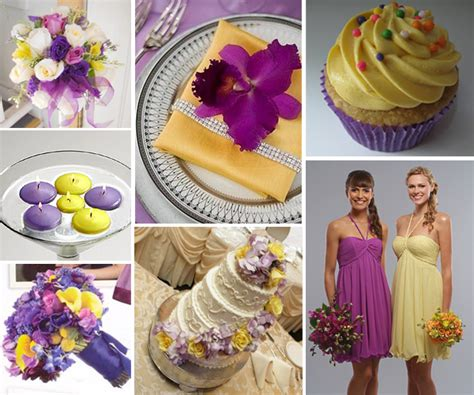 wedding by designs purple and sparkling yellow wedding ideas