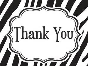 black amp white zebra thank you cards bella cupcake couture