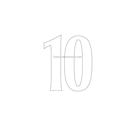 Free House 10 Number Stencil Freenumberstencils Com House Number Template