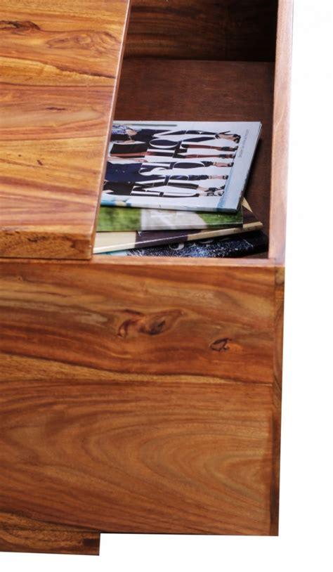 schublade 38 cm design sheesham massivholz couchtisch 88 x 88 x 40 cm mit