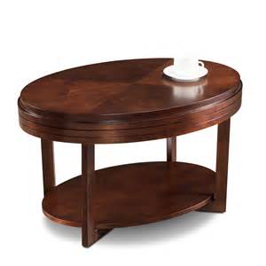 Leick Coffee Table - favorite finds 33 w x 19 h oval wood space saving coffee table with display shelf chocolate