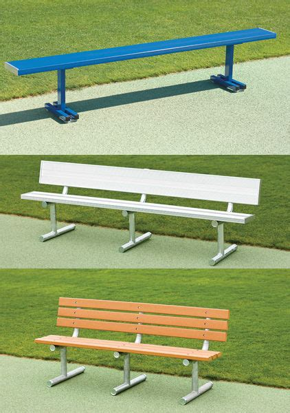 bench types aluminum athletic benches and bleachers service repair
