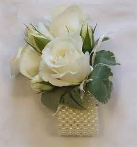 bridesmaid corsage rj s florist and blue wedding