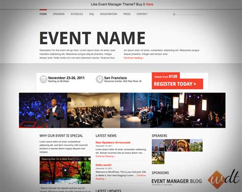 design event page fuzion web designs