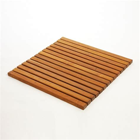 Teak Shower Mat by Infinita Corporation 899029001866 Le Spa Square Premium