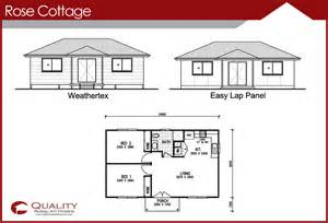 Granny Flat Floor Plans 2 Bedrooms The Rose Cottage 2 Bedroom Granny Flat Kit Home Kit Home
