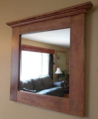 oak mirror rustic oak framed mirror custom made oak framed