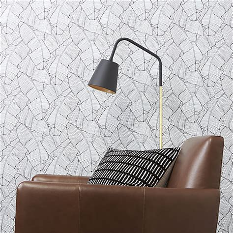 self adhesive wallpaper palm black and white self adhesive wallpaper