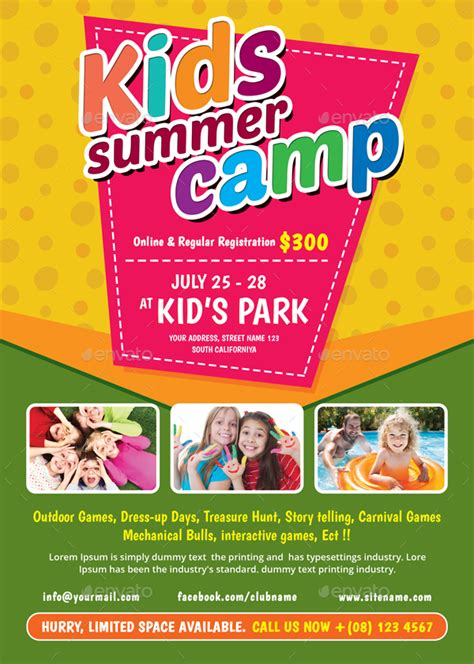 kids summer camp flyer by themedevisers graphicriver