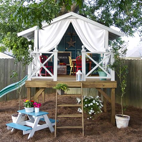 backyard play house children s playhouse in the garden or backyard 2