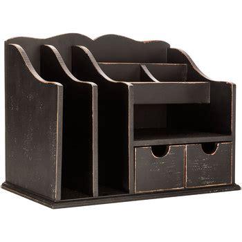 Black Wood Desk Organizer Distressed Black Wood Desk Organizer Hobby Lobby 1119460