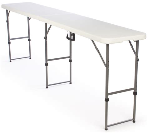 Height Adjustable Folding Table Narrow Folding Table 8 5 Ft Wide 17 75 Quot