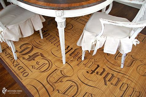 painted bamboo rugs diy painted bamboo mat repurposed furniture typography wood and bamboo rug