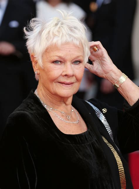 how to cut judi dench bangs 50 of the best celebrity short haircuts for when you need