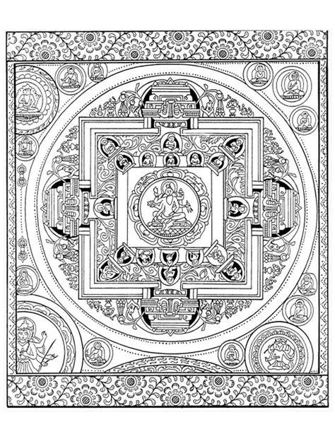 Pour Imprimer Ce Coloriage Gratuit 171 Coloriage Adulte Tibetan Mandala Coloring Pages