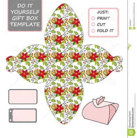 Favor Gift Box Die Cut Box Template Stock Vector Illustration Of Christmas Gift 58253637 Present Template
