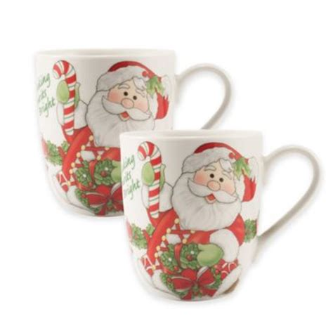 spode christmas tree candy cane handle mugs buy spode 174 tree handle mugs set of 4 from bed bath beyond
