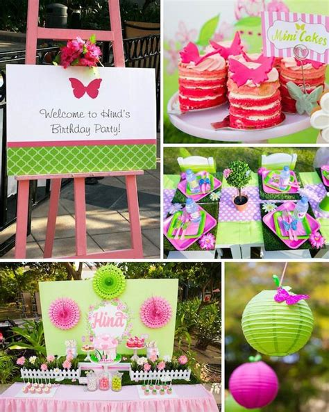 Kara S Party Ideas Butterfly Garden Themed Birthday Party Garden Birthday Ideas