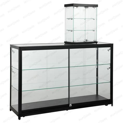 duplex portable jewelry showcase glass shelving jewelry