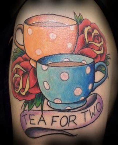polka dot tattoo designs a tea for two design with vintage polka dot tea