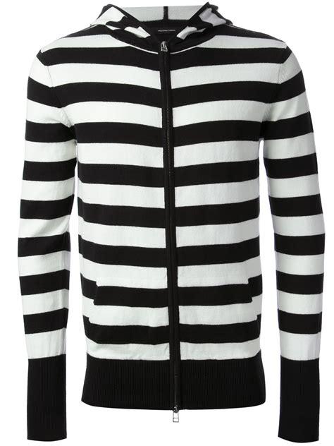 Striped Hoodie black and white striped hoodie fashion ql