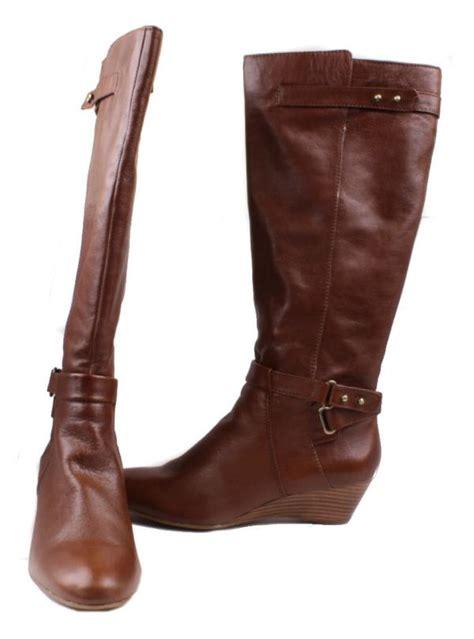 bandolino adjem womens light brown leather knee high zip