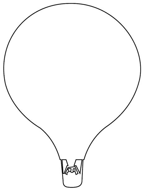 printable balloon shapes printable hotair simple shapes coloring pages