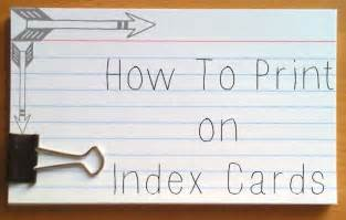 how to print on index cards and post it notes darla g