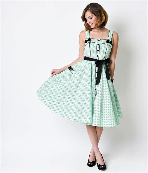 Retno Dress hell bunny retro pin up mint dot martie swing dress