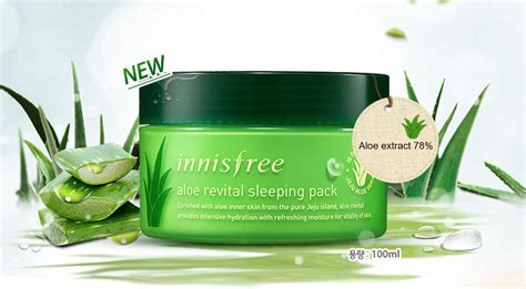 Harga Innisfree Aloe Revital Sleeping Pack innisfree aloe revital sleeping pack 100ml ebay