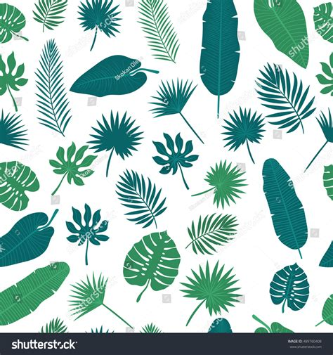 jungle pattern vector tropical leaves seamless pattern floral jungle stock