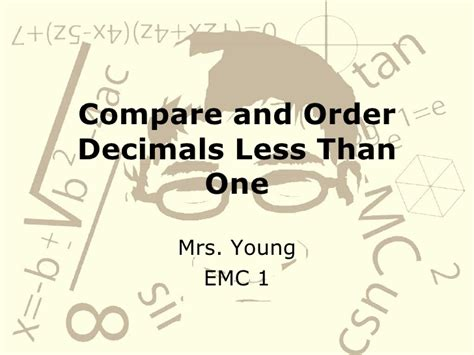 design effect less than 1 compare and order decimals less than one