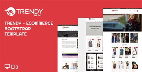 Trendy Fashion Ecommerce Bootstrap Template By Ecomauthor Themeforest Bootstrap Ecommerce Template